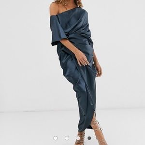 NWT ASOS EDITION Drape Asymmetric Maxi Dress